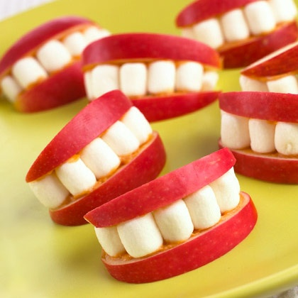dentier pomme chamallow