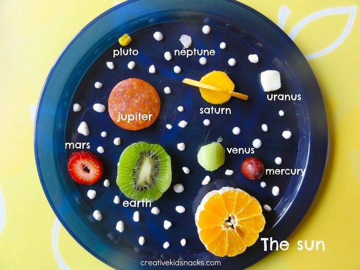 solar system in snack form