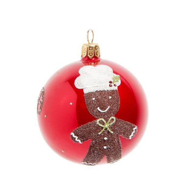 decoration noel gourmand boule sapin croquer