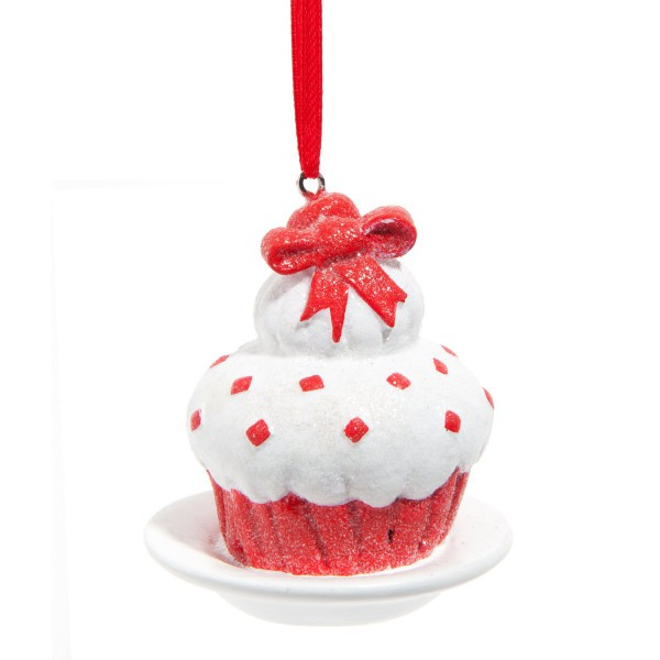 decoration noel gourmand cupacke rouge