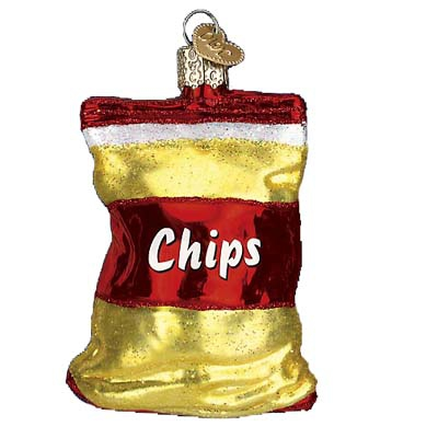 Chips Bag of Potato Chips Christmas Ornament