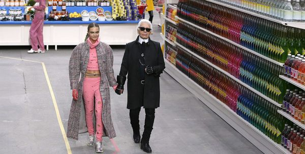 karl lagerfeld supermarché chanel grand palais source bild.de