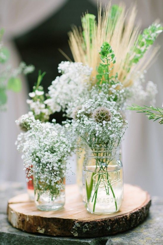 Decoration mariage champetre d co de table nature - Decoration de table nature ...