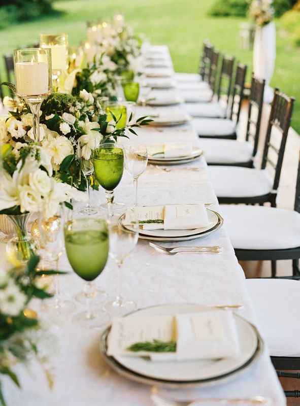 decoration table vert inspiration