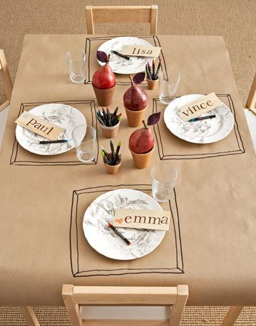 table enfant craft