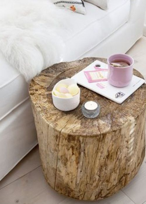 Bricolage des tables de chevet originales en r cup for Table de nuit bois