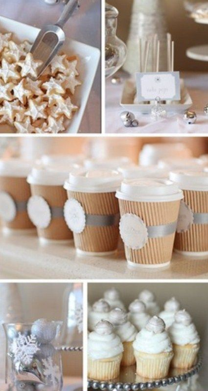 chocolate winter wedding
