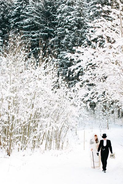 couple mariage hiver
