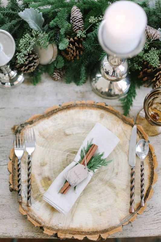 decoration table mariage hiver