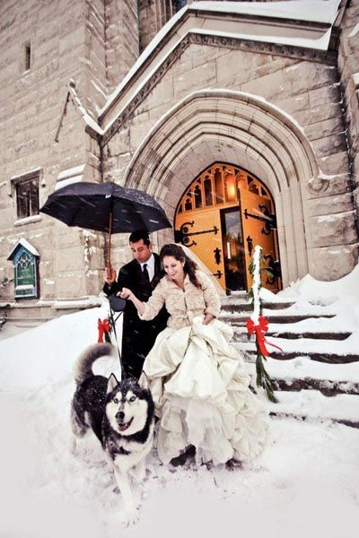 photo mariage hiver