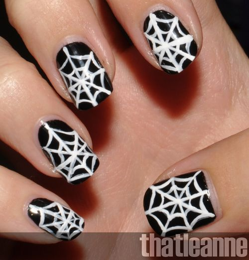 nail art halloween simple