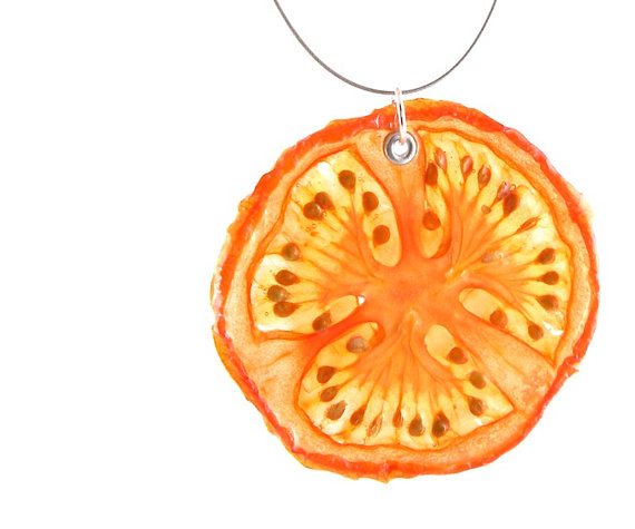 Collier Tomate - Bijoux de vrais fruits