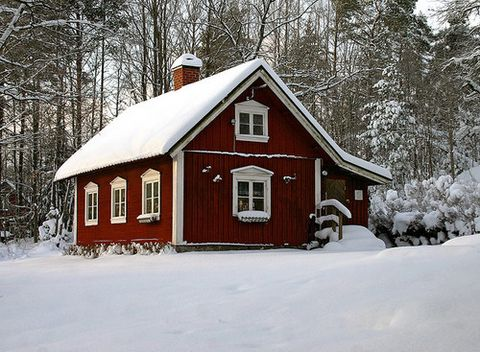 winter cottage in sweden