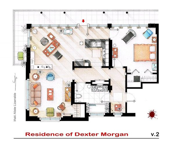 hand-drawn-floor-plans-of-popular-tv-shows-dexter