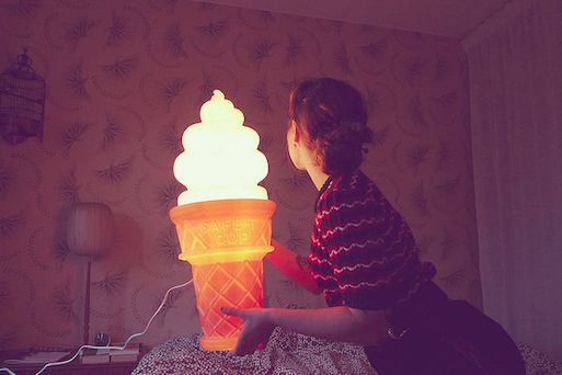 Ice Cream Cone Lamp
