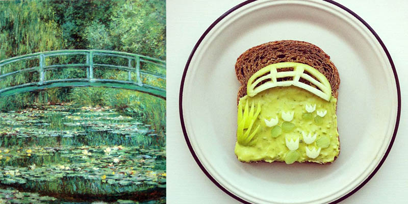 6 food art ida frosk Claude Monet  Pont japonais