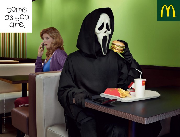 McDonalds food advert halloween