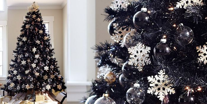 decoration sapin de noel noir et blanc my blog. Black Bedroom Furniture Sets. Home Design Ideas