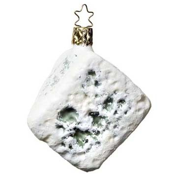 French Blue Cheese Christmas Ornament
