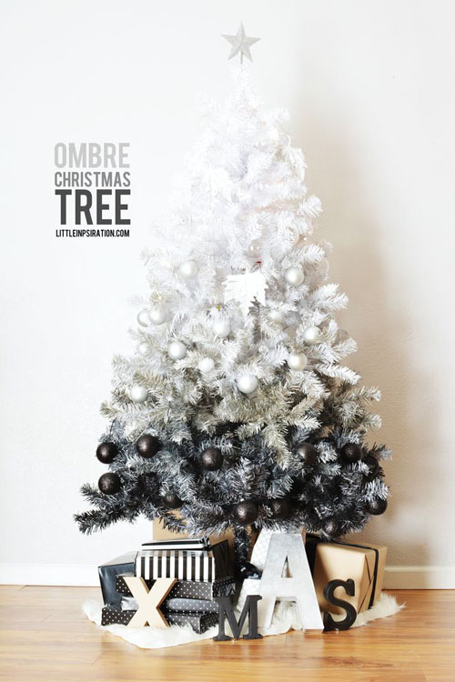 sapin de noel white to black