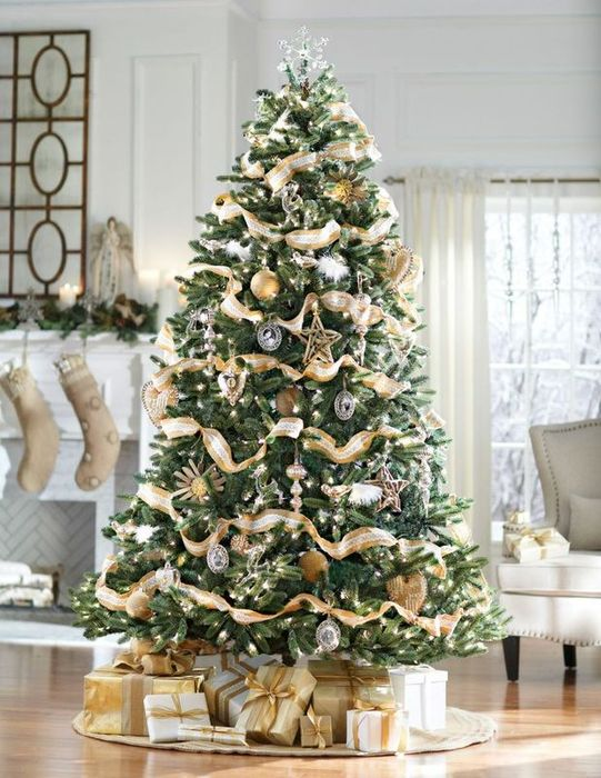 Elegant gold christmas tree decorating ideas - 60 Idees Sapin De Noel Tendance D 233 Coration Sapin De Noel