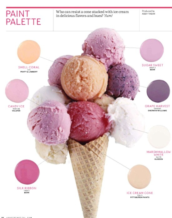 Ice cream paint palette
