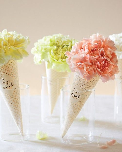 Ice cream flowers