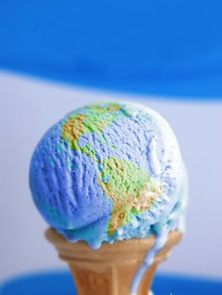 Earth ice cream