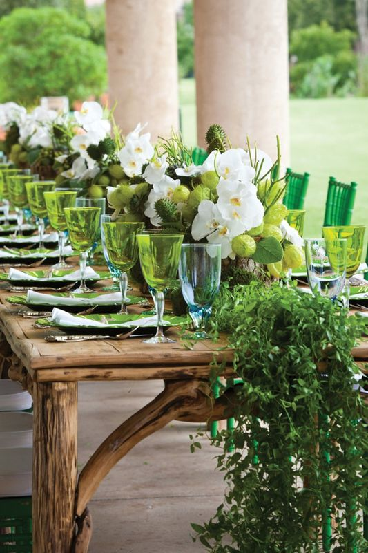 inspiration table verte