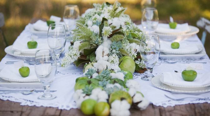 Decoration mariage champetre d co de table nature rustique vert - Deco table champetre pas chere ...