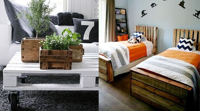 recyclage palette de bois meubles en palettes de bois. Black Bedroom Furniture Sets. Home Design Ideas