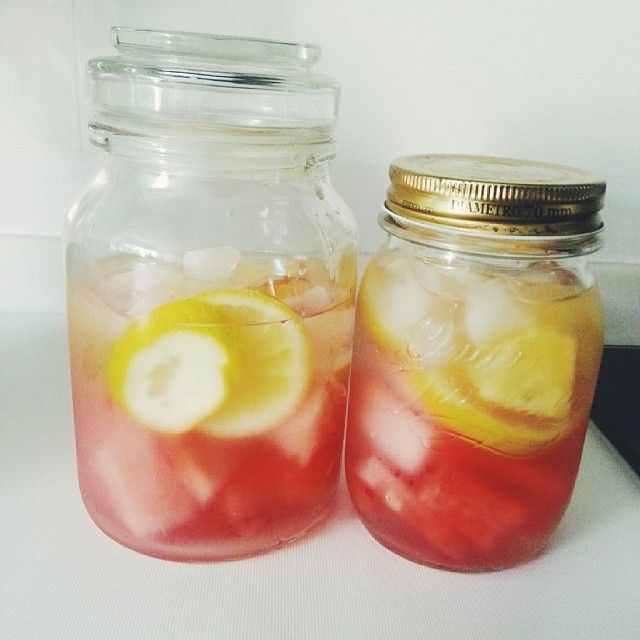 detox water watermelon lemon