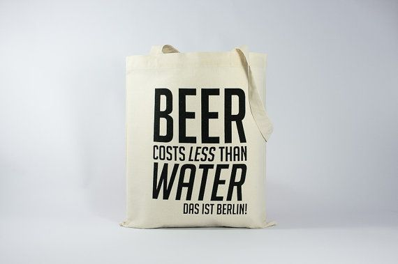 sac toile texte beer