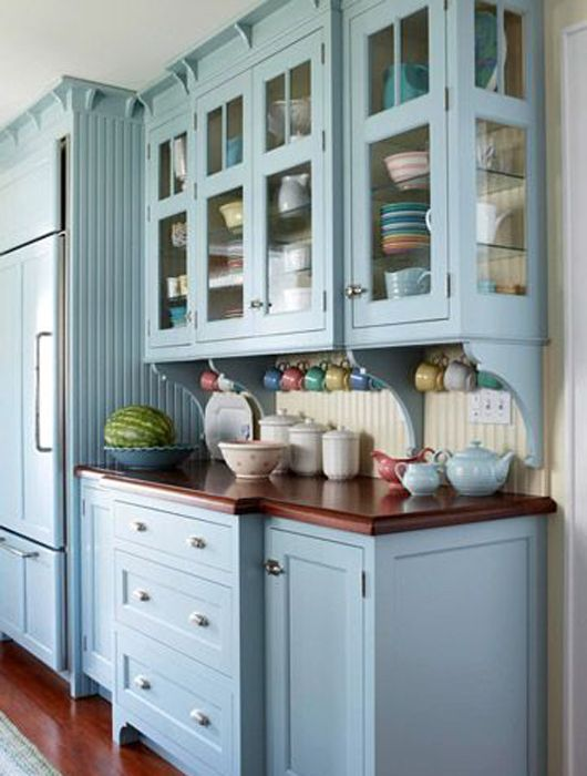 cream kitchen cabinets with blue walls cuisine bleu pastel je fouine tu fouines il fouine 14221