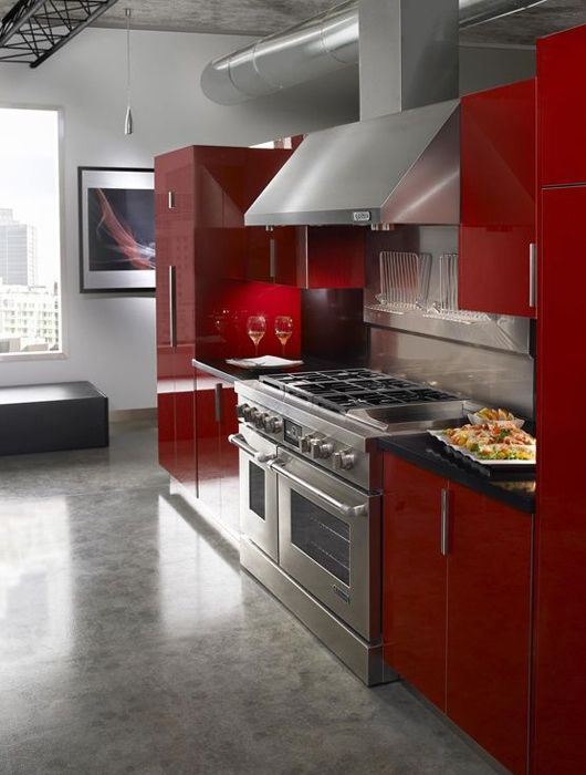 Cuisine Rouge Idees Decoration Cuisine Rouge