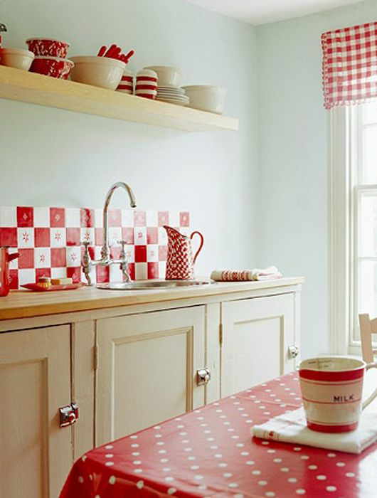 red and white kitchen tiles cuisine r 233 tro je fouine tu fouines il fouine 7671