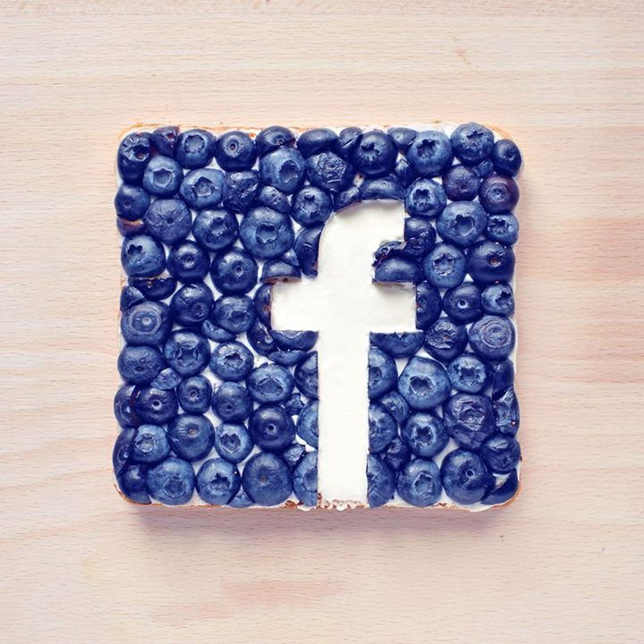 Food Art Logo Facebook en Myrtilles