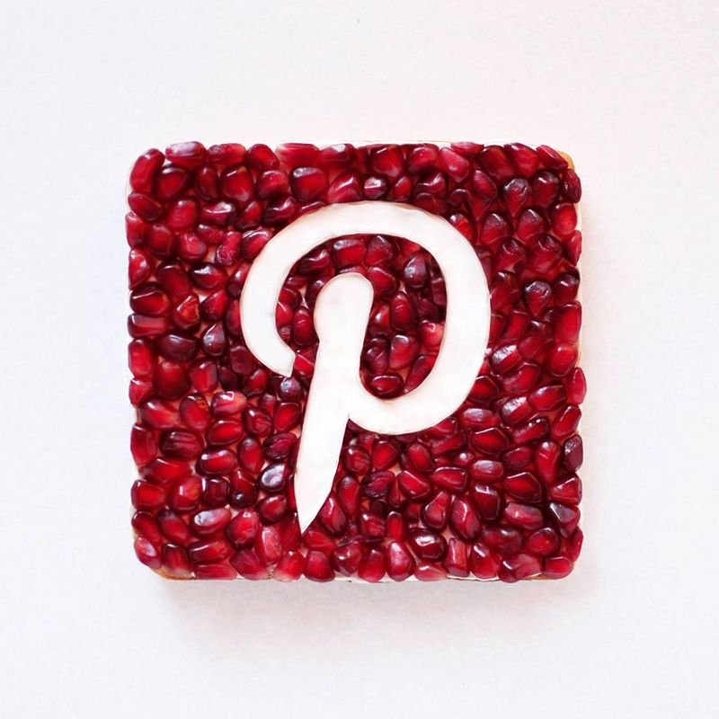 Food Art Logo Pinterest en Cranberries