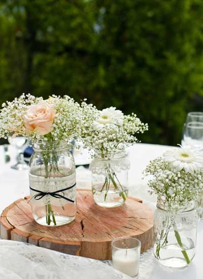 Centre de table 20 id es de centre de table - Deco table mariage champetre chic ...