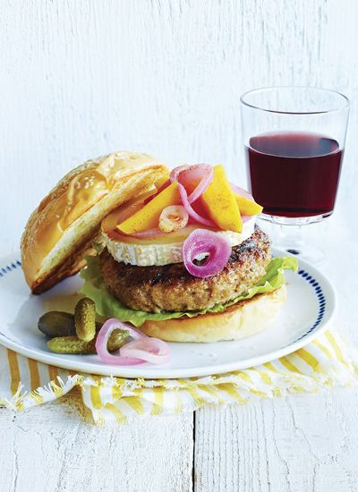 Burger veau chevre mangue