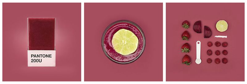 smoothie pantone fraise betterave