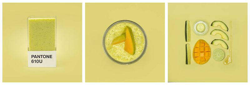 smoothie pantone mangue avocat courgette
