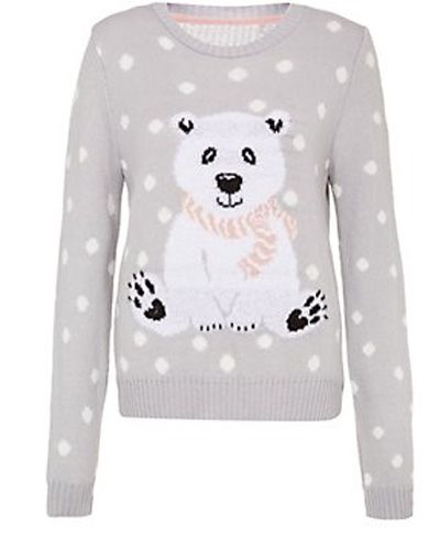 Pull Ours blanc : 30€