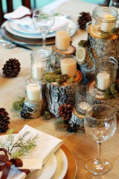 centre table mariage hiver