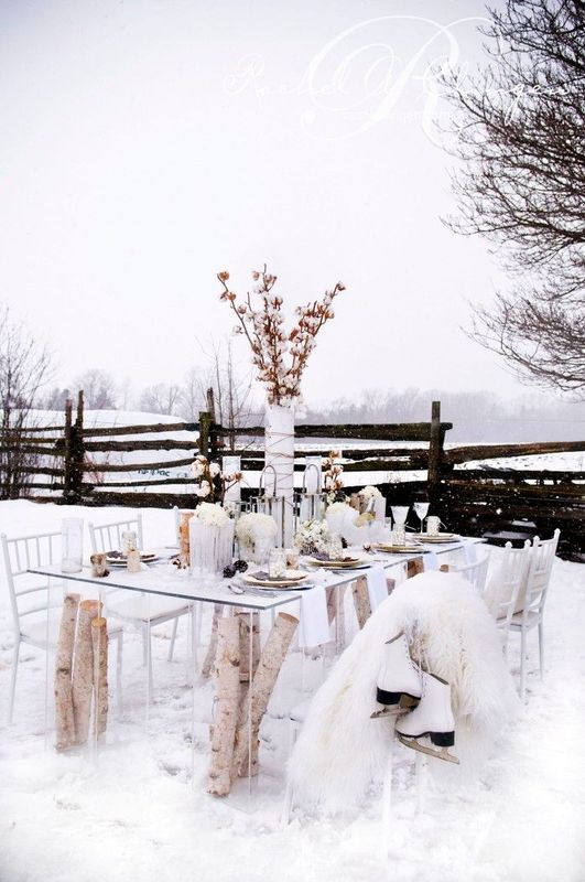 diner mariage hiver