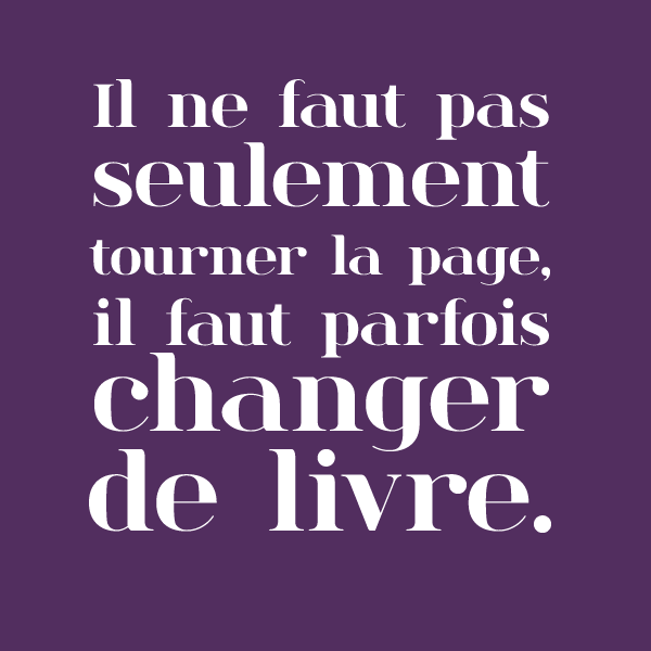 citation tourner la page